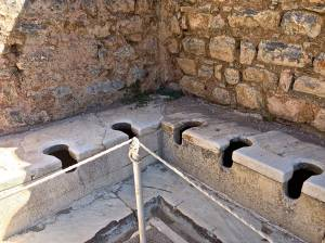 Not sure if you can tell, but there is drainage built into these. Amazes us since these were built in 1 A.D.!!