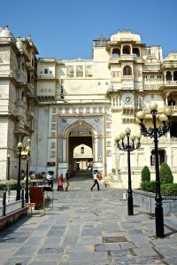Entrance to the City Palace of Udaipur.
