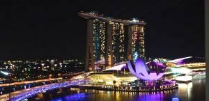 Night photo of the Marina Bay Sands