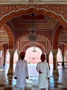 Just a couple guys hanging around inside the Pink City...