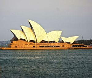 First view of the Sydney Opera House.