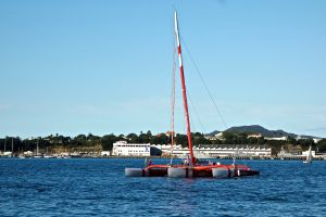 Vodafone racing sailboat