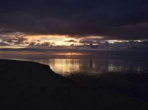 First Sunset in Rarotonga.