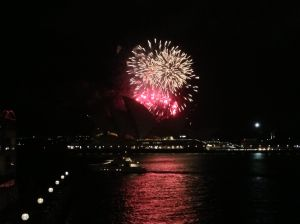 On our last night, they had fireworks over the opera house! Beautiful display!
