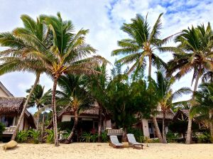 This is our place in Rarotonga. On the day we arrived. It was partly cloudy for about two hours.