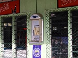 We loved the advertisement UNDER the pay phone!