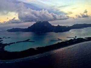 First sighting of Bora Bora.
