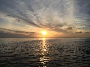 Sunset in Bora Bora.