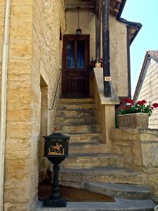 Here is a typical front door in Montignac.