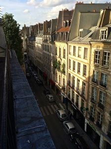 View from our hotel on Rue de Seine.