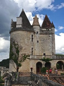 Chateau Milandes from the front.