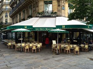 Les Deux Magot Cafe. Yes, it is called the two magots. No visit to Paris is complete without having an aperitif or two here on the left bank.