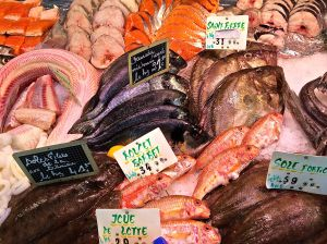 You want fresh fish? This is the place. The market in Sarlat. Just cut the heads off before you cook!!