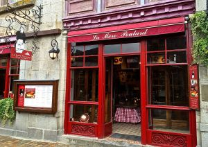 We had lunch at La Mere Poulard a famous omelette restaurant in Mont St. Michel.