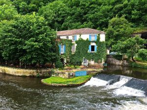 We spent the first day of Rita's birthday at this hotel in Brantome in Dordogne. A great location.