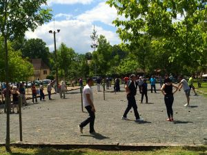 Petanque tournament in St. Leon-sur-Vezere.