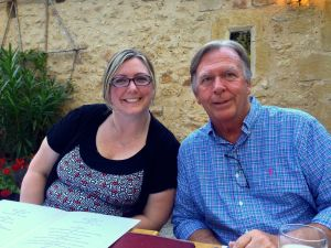 Angela and Norm at La Source, Tursac dinner!