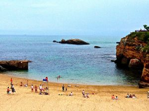 Nice little swim cove in Biarritz.
