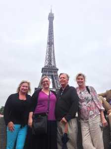 Rita, Angela, Norm and Mary stopping for a Kodak moment with one of the great Paris monuments in the background!