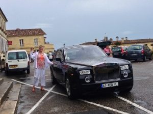 How nice of Norm to pull up the car for Mary, as we were leaving St. Emilion!