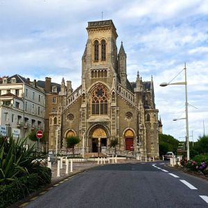 St. Eugenie gothic church Biarritz.