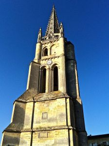 Monolithic Church of St. Emilion from the 11th century.