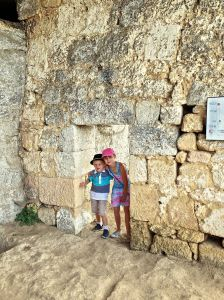 Cheyanne and Tinael coming through a Troglodytes doorway! They were small??