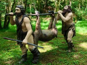 This is in the Prehistoric Parc!!! Mary and Angela... bet you wished you would have gone to see this!!