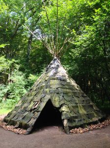 This is a tee pee they lived in, uhmmm seems just like the ones we see in the U.S.