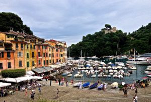 "And then we ended up here, in this quaint little port, ""Portofino, Italy"". Very small harbour, but lots going on!"