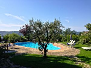 Villa La Barone pool.  A nice place to cool off!