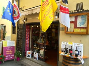 A shop just off the Greve main square specializing in wines and products of Chianti including olive oil and balsamic vinegar.