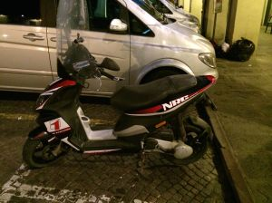 Motorbike with my initials on it.