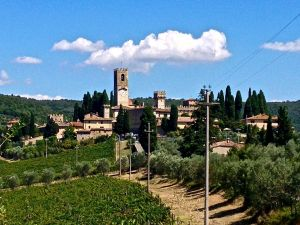Badia a Passignano, a very pretty little town on the way to San Gimignano.