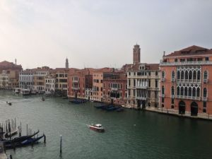 Not a lot of traffic today on the Grand Canal!