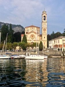 Church along the coast of Lake Como.