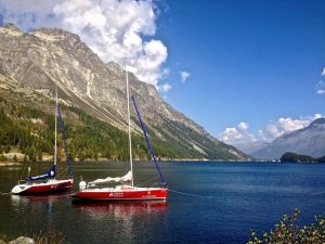 Now this is one of my favorite pictures!  Lake Sils, Switzerland.