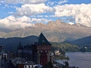 View from the roof of our hotel in St. Moritz.