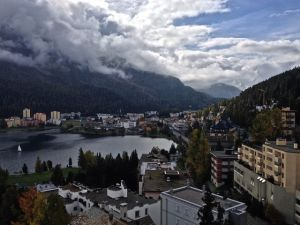 View of the Lake of St. Moritz.
