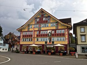 "Appenzell, Switzerland - known for their ""Painted Houses""."