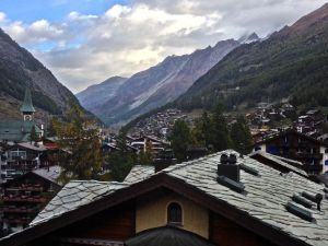 View of Zermatt from our bedroom.