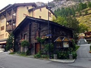 One of the many streets in Zermatt.