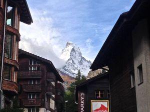 Nice view from Zermatt of the Matterhorn.